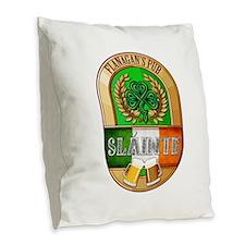 Flanagan's Irish Pub Burlap Throw Pillow