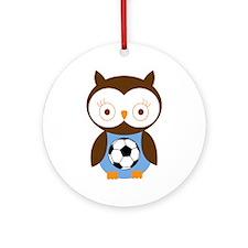 Soccer Ball Owl Ornament (Round)