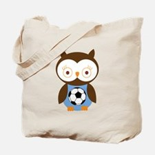 Soccer Ball Owl Tote Bag