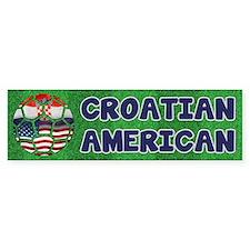 Croatian American Soccer Fan Bumper Bumper Sticker