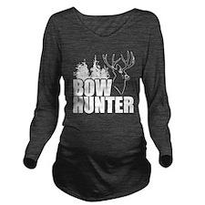 Bow hunter buck Long Sleeve Maternity T-Shirt