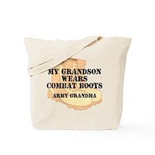 Army Grandma Grandson Desert Combat Boots Tote Bag