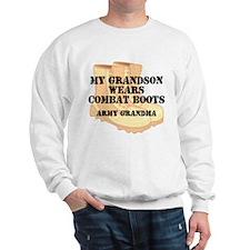 Army Grandma Grandson Desert Combat Boots Sweatshi