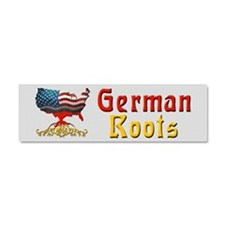 American German Roots Car Magnet 10 x 3
