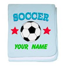 Personalized Soccer Sports Boy baby blanket