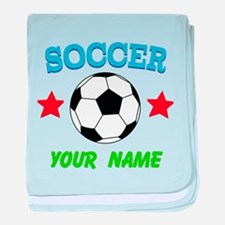 Personalized Soccer Sports Boy baby blanket