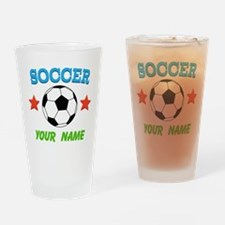 Personalized Soccer Sports Boy Drinking Glass