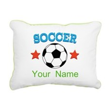 Personalized Soccer Ball Name Rectangular Canvas P