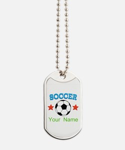 Personalized Soccer Ball Name Dog Tags