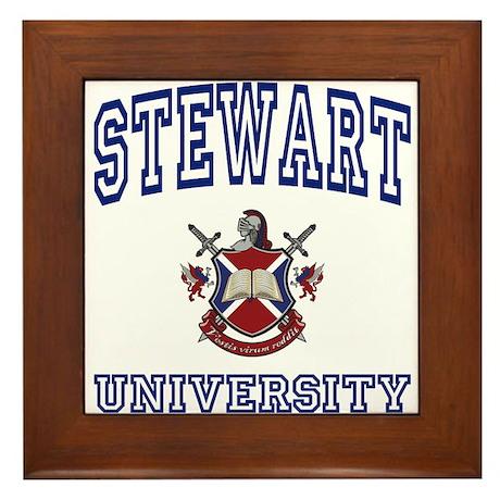 STEWART University Framed Tile