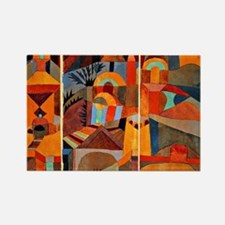 Klee - Temple Gardens Rectangle Magnet