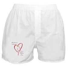 Shiba Inu Heart Belongs Boxer Shorts