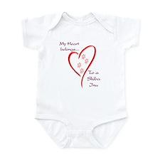 Shiba Inu Heart Belongs Infant Bodysuit