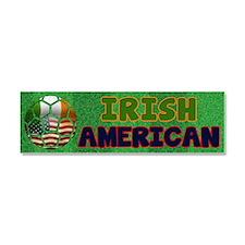 Irish American Soccer Fan Car Magnet 10 x 3