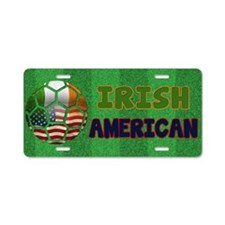 Irish American Soccer Fan Aluminum License Plate