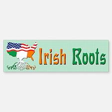 American Irish Roots Bumper Bumper Bumper Sticker