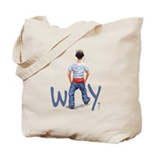 Youth with boxers showing - Why? Tote Bag