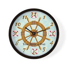 Captain's Wheel Wall Clock