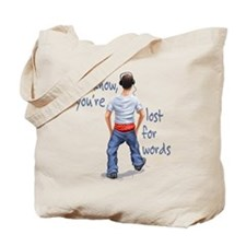 Youth with Underwear Showing Tote Bag