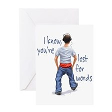 Youth with Underwear Showing Greeting Card