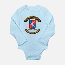 8th Support Battalion w Text Long Sleeve Infant Bo