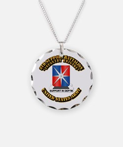 8th Support Battalion w Text Necklace