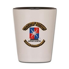 8th Support Battalion w Text Shot Glass