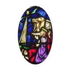 The Three Kings Oval Car Magnet