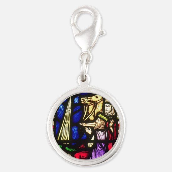 The Three Kings Silver Round Charm