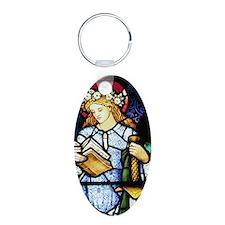 St Catherine of Alexandria Aluminum Oval Keychain
