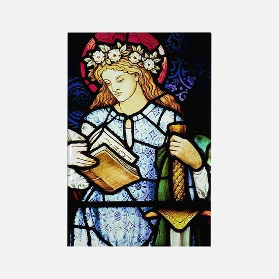 St Catherine of Alexandria Rectangle Magnet