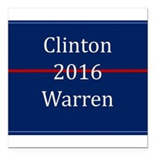 "Clinton Warren 2016 Square Car Magnet 3"" x 3"""