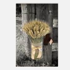 farm fence wheat bouquet Postcards (Package of 8)