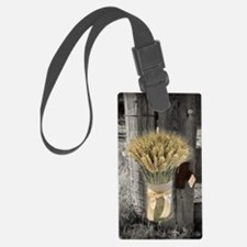 farm fence wheat bouquet Luggage Tag