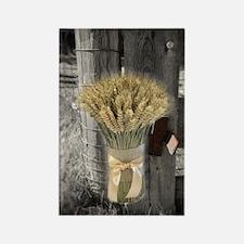 farm fence wheat bouquet Rectangle Magnet