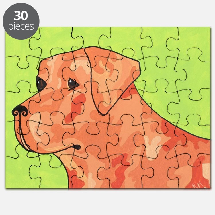 Fox Red Camo Lab Puzzle