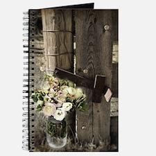 farm fence floral bouquet Journal
