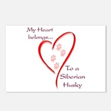 Husky Heart Belongs Postcards (Package of 8)