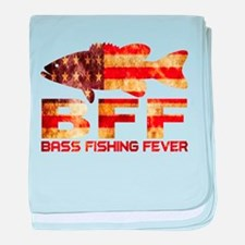 BASS FISHING USA baby blanket