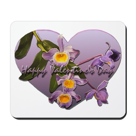 Valentine's Day Orchids Mousepad