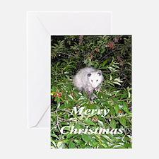 Cherry Possum Greeting Card