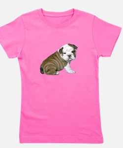 English Bulldog Puppy1 Girl's Tee