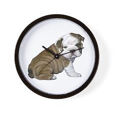 English Bulldog Puppy1 Wall Clock
