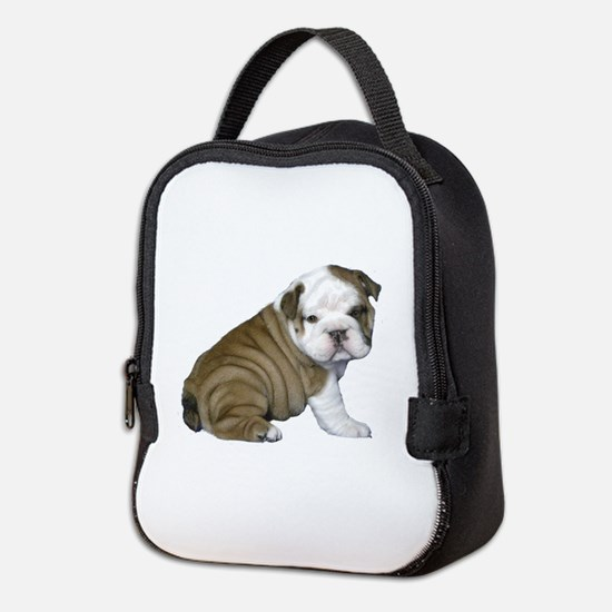 English Bulldog Puppy1 Neoprene Lunch Bag