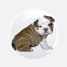"English Bulldog Puppy1 3.5"" Button"