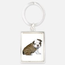 English Bulldog Puppy1 Portrait Keychain