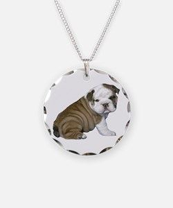 English Bulldog Puppy1 Necklace