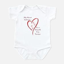 Smooth Fox Heart Belongs Infant Bodysuit
