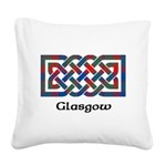 Knot - Glasgow dist. Square Canvas Pillow