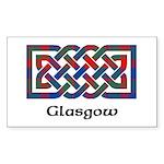 Knot - Glasgow dist. Sticker (Rectangle 50 pk)